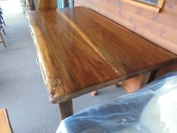 SOLID SLAB BLACK WALNUT BEAUTIFUL KILN DRIED DINING KITCHEN TABLE CABIN DECOR