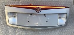 CADILLAC CTS 3RD BRAKE LIGHT & TRUNK FINISH LICENSE PLATE PANEL GREYGRAY 03-07