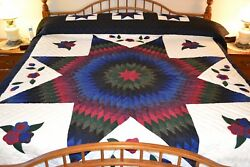 NEW Amish Handmade Quilted Improved Lone Star 103W x 119L