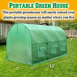 Large Walk In Greenhouse Outdoor Portable Green Full Closed Cover Plant Garden
