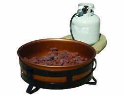 King Kooker and reg; 24' Portable Propane Fire Pit With Copper Plated Bowl