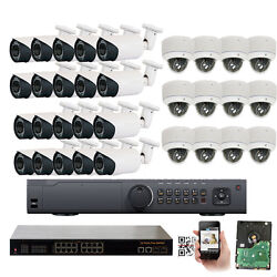 32Channal NVR 1920P 5MP Varifocal PoE IP ONVIF Outdoor Security Camera 4TB HDD