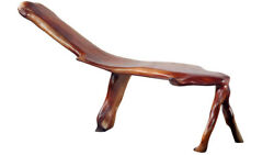 67''L Free Form Mahogany Wood  Garden Bench- One of a Kind!