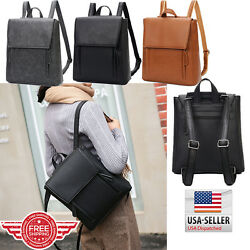 Women Leather Backpack Shoulder School Book Travel Handbag Rucksack Bag B9