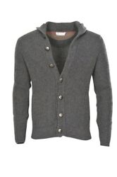 Brunello Cucinelli Cardigan Men's 50 Gray Cashmere   knitted