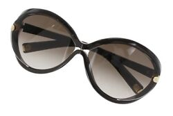Louis Vuitton Z0415E Sunglasses Butterfly Dark Brown Ladies Free Ship Mint #1056