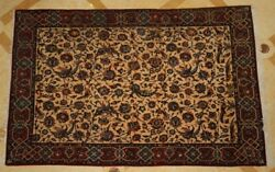 MAGNIFICENT 1900'S PERSIAN ISFAHAN MANCHESTER WOOL RUG 'MUST SEE'