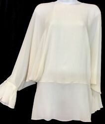 Chloe Top Milk White Silk Dolman Sleeve NWT $1350 Size 36