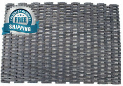 Durable Dura-Rug Recycled Fabric Tire-Link Outdoor Entrance Mat 24