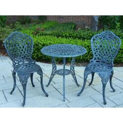 Lightweight Aluminum 3-Piece Patio Bistro Set Outdoor Garden Patio Table Chairs