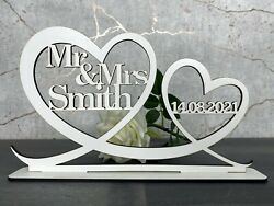 Personalised Mr amp; Mrs Top Table Sign amp; Date Mr and Mrs Wedding Decoration Gift GBP 10.95