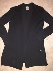 authentic Chanel Uniform  Wool Cardigan  Size S Used