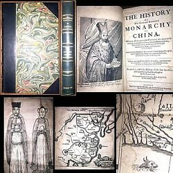 1655 HISTORY OF CHINA 1ST ENGLISH EDITION MAPS ASIA RELIGION SOCIETY WAR FOLIO $