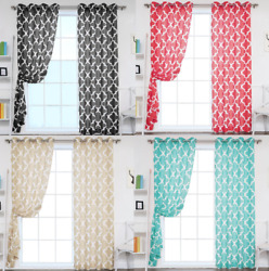 CHIC 1 SINGLE PANEL GROMMET VOILE SHEER WINDOW DRESSING CURTAIN TREATMENT   $5.20