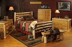 WESTERN CORRAL LOG BED (complete bed)- Ships Free!!