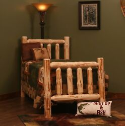 RUSTIC PINE LOG BED Rustic Log Bed for Cabin or Home Rustic Decor Log Furniture