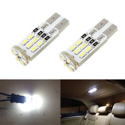2 x White LED T10 194 168 W5W Interior Map Dome Trunk License Plate Light Bulbs $6.98