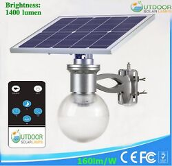 Commercial Outdoor Solar Powered Street Moon Light Super Bright With 160lm W