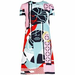 New Versace Abstract Print Dress 38 - 4