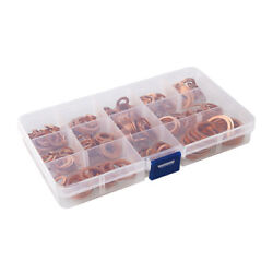 280Pcs Assortment Copper Washers Sump Plug Assorted Kit with Plastic Box $25.36