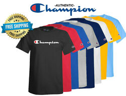 Champion Mens Classic Jersey Script Logo T Shirt Brand New Various Sizes $19.99