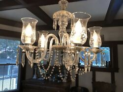 Bohemian 5 Arm Chandelier Antique 1930#x27;s $695.00