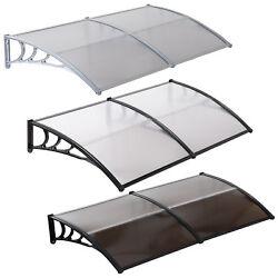 80''x40'' Window Awning Outdoor Polycarbonate Front Door Patio Cover Canopy