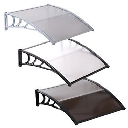 40''x40'' Window Awning Outdoor Polycarbonate Front Door Patio Cover Canopy