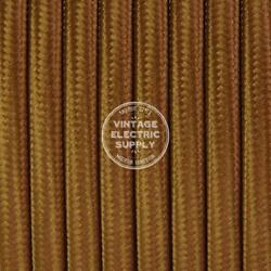Cognac Parallel Flat Cloth Covered Wire Antique Lamp Cord UL Listed $1.28