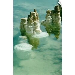 Wall Decal entitled Salt deposits and formations in the Dead Sea