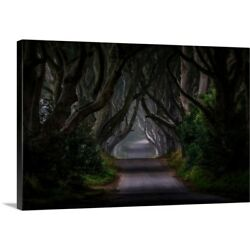 Solid-Faced Canvas Print Wall Art entitled Magic Road