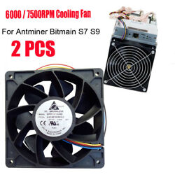 2PCS 7500RPM Cooling Fan Replacement 4-pin Connector For Antminer Bitmain S7 S9