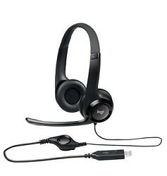 Logitech USB Headset H390 with Noise Cancelling Mic One Size