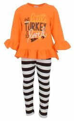 USA Boutique Toddler Kids Girl Tops T-shirt Pants Leggings Outfits Set Clothes $14.99