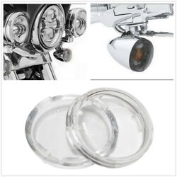 2 Pcs L & R Clear Turn Signal Light Lens Cover Fit For Harley Touring 1986-2019 $5.95