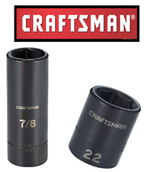 NEW Craftsman 1 2quot; amp; 3 8quot; Drive Impact Socket Deep Shallow 6pt SAE MM Choose $16.95