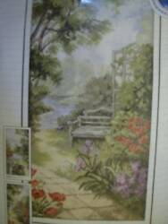 Summerhouse By The Water OR Garden Bench Cross Stitch Kit 9.5x18.5 inches RTO