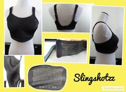 quot;38Dquot; *Champion 1602 Max Support* Blk Lined Wire Free Gel Straps Sports Bra $14.30