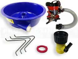 BLUE BOWL PAN GOLD Prospecting CONCENTRATOR + Pre-plumbed 12V PUMP + Hardware $119.95