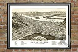 Old Map of Red Wing MN from 1880 Vintage Minnesota Art Historic Decor $59.99