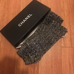 Chanel Fingerless Cashmere and Crystal Gloves