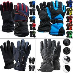 Men Winter Outdoor Thick Sports Ski Thermal Insulation Waterproof Gloves Mittens $8.99