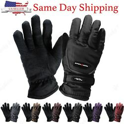 Womens Outdoor Sports Winter Thermal Waterproof Adjustable Ski Snowboard Gloves $7.99