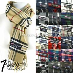Mens Womens Winter Warm SCOTLAND Made 100% CASHMERE Scarf Scarves Plaid Wool $6.49