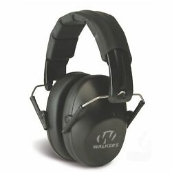 Walkers Pro Low Profile Folding Ear Muff BLACK Passive Hearing Protection $17.50