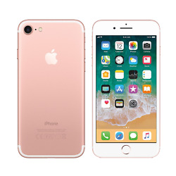 Apple iPhone 7 - 32GB - Rose Gold - Fully Unlocked - Good Condition