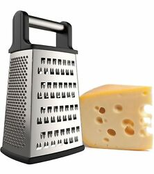 4 Sided Cheese Grater Stainless Steel Carrot Food Shredder Box Professional