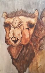 CAMEL THE BLESSED BACTRIAN (1974) RARE LEGENDARY ANIMAL CAMEL POP ART PAINTING