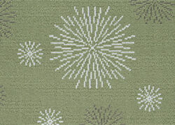 Masque Carnevale Green Custom Cut Indoor Outdoor Carpet Pattern Area Rugs