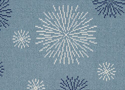 Masque Confetti Blue Custom Cut Indoor Outdoor Carpet Pattern Area Rugs